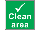 Clean area symbol safety sign.