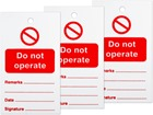 Do not operate tag.