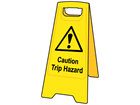 A-board, caution trip hazard