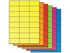 Fluorescent paper labels, 37mm x 70mm