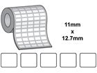 Tamper evident labels, 11mm x 12.7mm