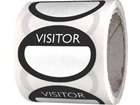 Fabric visitors badges, black