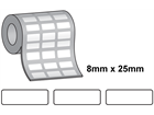Tamper evident labels, 8mm x 25mm