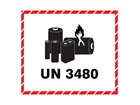 UN3480 lithium ion battery label