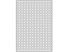 Silver polyester laser labels, 10mm diameter