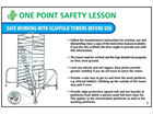 Safe working with scaffold towers sign