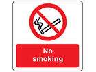 No smoking symbol and text safety label.