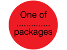 One of....packages packaging label