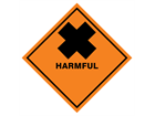 Harmful hazard warning diamond sign