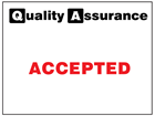 Accepted quality assurance label.