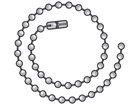 Stainless steel ballchain with connector.