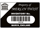 Scanmark barcode label (logo / full design), 32mm x 50mm