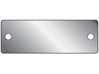 Blank stainless steel nameplate, 26mm x 76mm