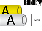 Dymo Rhino heat shrink tube tape (12mm)