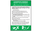 Conserve energy electricity pocket guide.