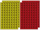 Multipurpose letter set A-Z, 12mm x 8.5mm