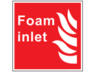 Foam inlet symbol and text sign
