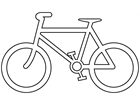 Bicycle route symbol thermoplastic marker