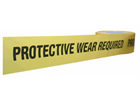 Protective wear required barrier tape