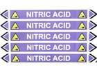 Nitric acid flow marker label.