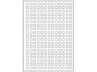 Paper laser and inkjet labels, 10mm diameter.