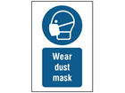 Wear dust mask symbol and text safety sign.