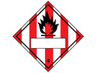 Flammable solid, class 4, hazard diamond label (with write on panel)