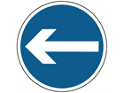Turn left sign