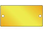 Blank brass nameplate, 51mm x 101mm