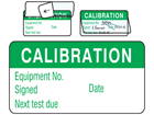 Calibration jumbo write and seal labels.