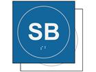 SB sign.