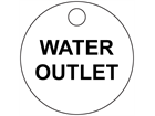 Custom engraved tag, 33mm diameter, two line text