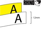 Dymo Rhino non adhesive tag tape (12mm)