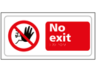 No exit text and symbol sign.
