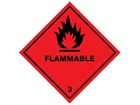 Flammable, class 3, hazard diamond label