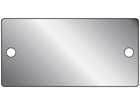 Blank stainless steel nameplate, 44mm x 89mm