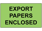 Export papers enclosed labels