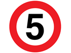 5 mph limit floor marker