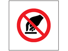 Do not touch symbol safety sign.