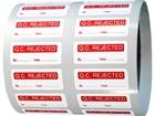 Q.C. Rejected label.
