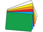 Plain temporary label, 50mm x 75mm