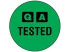 QA Tested label