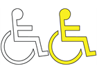 Disabled parking symbol thermoplastic marker