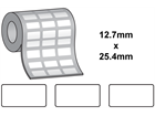 Thermal transfer labels, self adhesive vinyl labels, 12.7mm x 25.4mm.