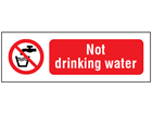 Not drinking water safety sign.