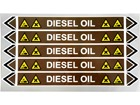 Diesel oil flow marker label.
