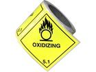 Oxidising, class 5.1, hazard diamond label