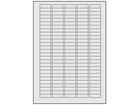 Silver tamper evident (checkeredboard) polyester laser labels, 10mm x 32mm