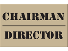 Chairman, director heavy duty stencil