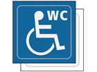 Disabled WC symbol sign.
